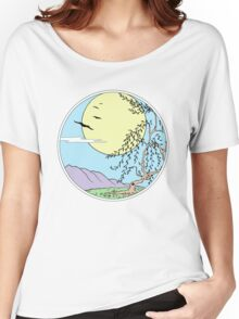 Willow Tree with Sun and Birds Women's Relaxed Fit T-Shirt