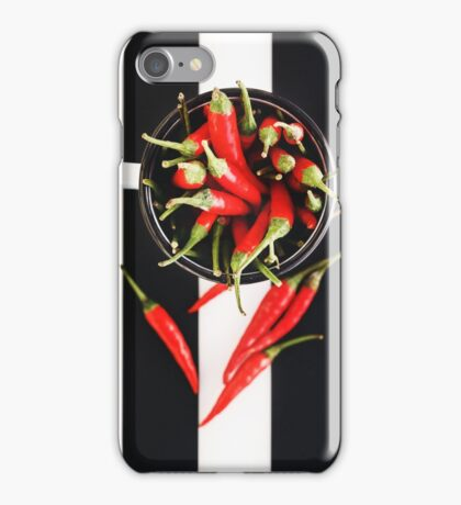 Red Chili Peppers in Mug iPhone Case/Skin