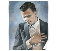 """""""Illuminated"""", oil painting of Theo Hutchcraft, HURTS band Poster"""
