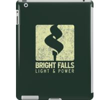 Bright Falls Light & Power (Alt.) (Grunge) iPad Case/Skin