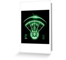 Alien Tracking Greeting Card