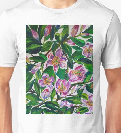 Portwine Magnolias Unisex T-Shirt