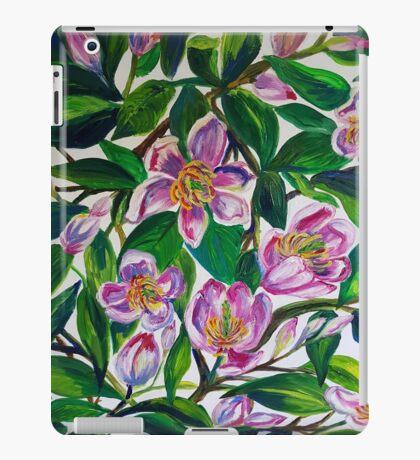 Portwine Magnolias iPad Case/Skin