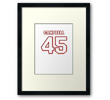 NFL Player Stephen Campbell fortyfive 45 Framed Print