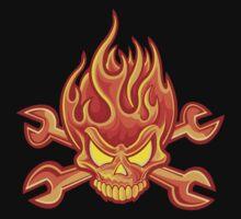 Flaming Headache; Skulling Series by Mynameisparrish