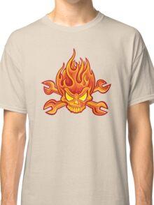 Flaming Headache; Skulling Series Classic T-Shirt