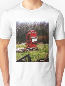 The Red Telephone Box in the Woods T-Shirt