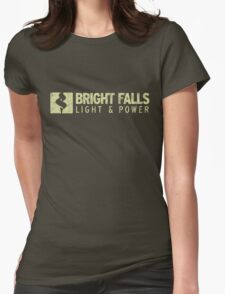 Bright Falls Light & Power (Grunge) Womens Fitted T-Shirt