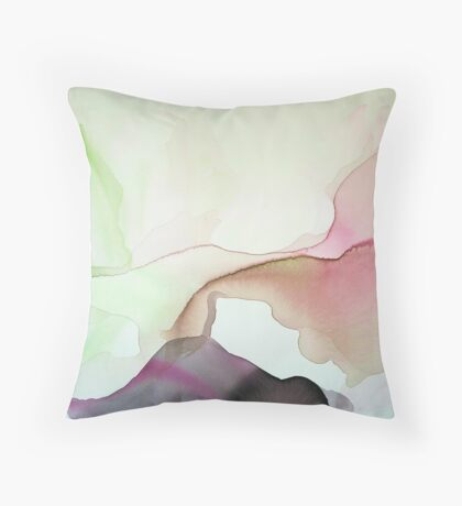 Flowing Abstract 4 Throw Pillow