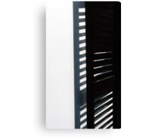Black on White Canvas Print