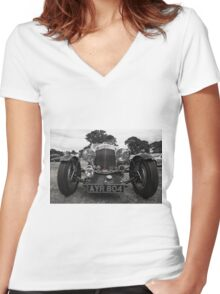 Aston Martin Roadster  Women's Fitted V-Neck T-Shirt