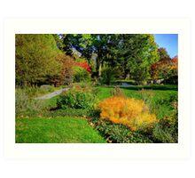 Gardens at Blithewold, Rhode Island Art Print