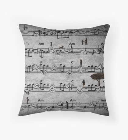 The Music of Life Throw Pillow
