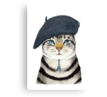 Charming French Cat  Canvas Print