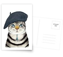 Charming French Cat  Postcards