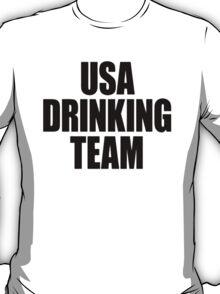 USA Drinking Team [Black] T-Shirt