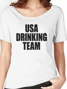 USA Drinking Team [Black] Women's Relaxed Fit T-Shirt