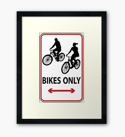 Hipsters Only Framed Print