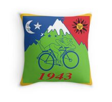 Hofmann Bike ride LSD Blotter Art Psychedelic Tee Throw Pillow