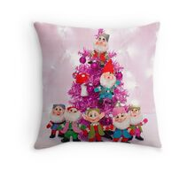 Merry Christmas from the Seven Dwarves Throw Pillow