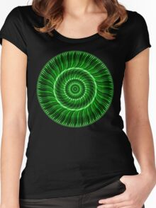 Watcher of the Green Mandala Women's Fitted Scoop T-Shirt