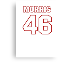 NFL Player Alfred Morris fortysix 46 Canvas Print