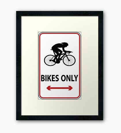 Time Trial Only Framed Print
