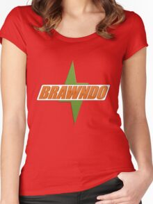 BRAWNDO Logo Women's Fitted Scoop T-Shirt