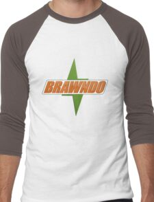 BRAWNDO Logo Men's Baseball ¾ T-Shirt