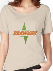 BRAWNDO Logo Women's Relaxed Fit T-Shirt