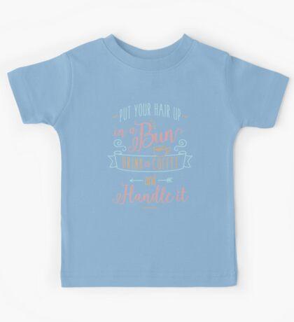 Drink Coffee T-shirt Kids Tee