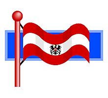 Old Austria Flag Photographic Print