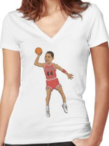 Airbama Women's Fitted V-Neck T-Shirt