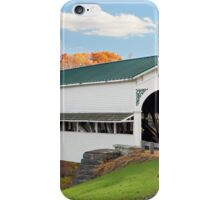 Covered Bridge at Westport iPhone Case/Skin