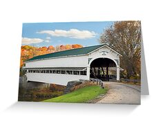 Covered Bridge at Westport Greeting Card