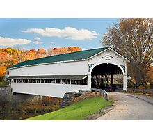 Covered Bridge at Westport Photographic Print