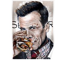 Harvey Specter-Watercolour Poster