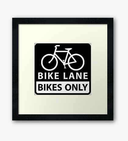 Bike Lane Framed Print
