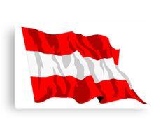 Austria Flag Canvas Print