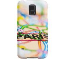 Close-up on Paris city on map, travel destination concept Samsung Galaxy Case/Skin