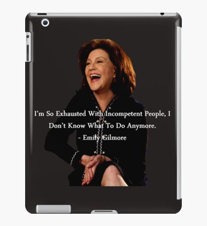 """""""Gilmore Girls"""", The Best Of Emily Gilmore. iPad Case/Skin"""