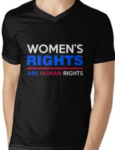 Women's Rights are Human Rights Womens March Mens V-Neck T-Shirt