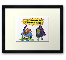 Beaver Heroes Framed Print