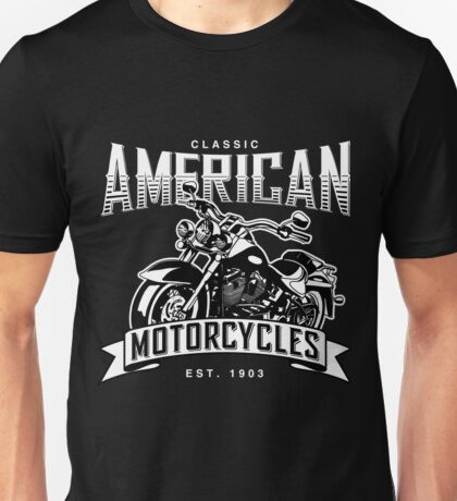 Classic American Motorcycles Unisex T-Shirt