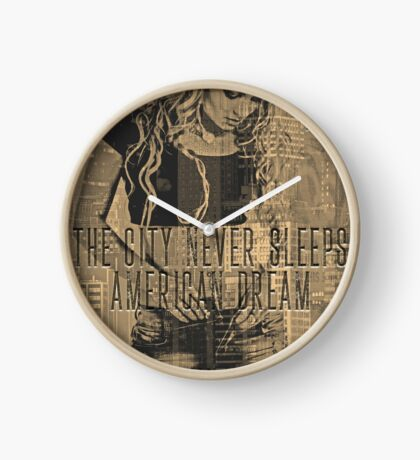NEW YORK - THE CITY NEVER SLEEPS Clock