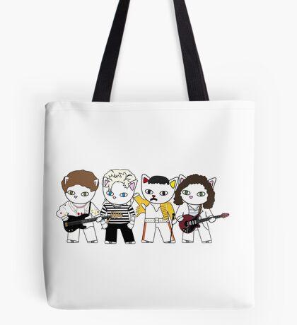 Meow rock band Tote Bag