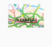 Close-up on London city on map, travel destination concept Unisex T-Shirt