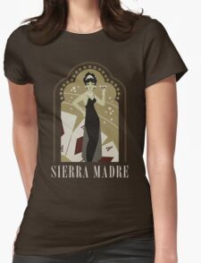 Sierra Madre Poster Design Womens Fitted T-Shirt