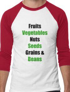 Vegan Food Groups Pyramid Men's Baseball ¾ T-Shirt