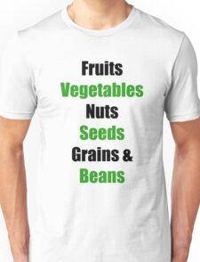 Vegan Food Groups Pyramid Unisex T-Shirt